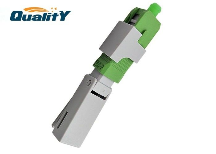 QSC53KJ2-APC Fiber Optic CATV FTTH Fast Connector Easy Installation / SC Fiber Optic Connector